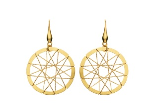 1509980_Gold-plated bronze earrings