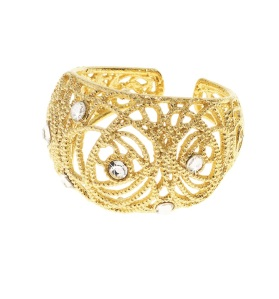 1512584_Gold-plated silver ring with crystals