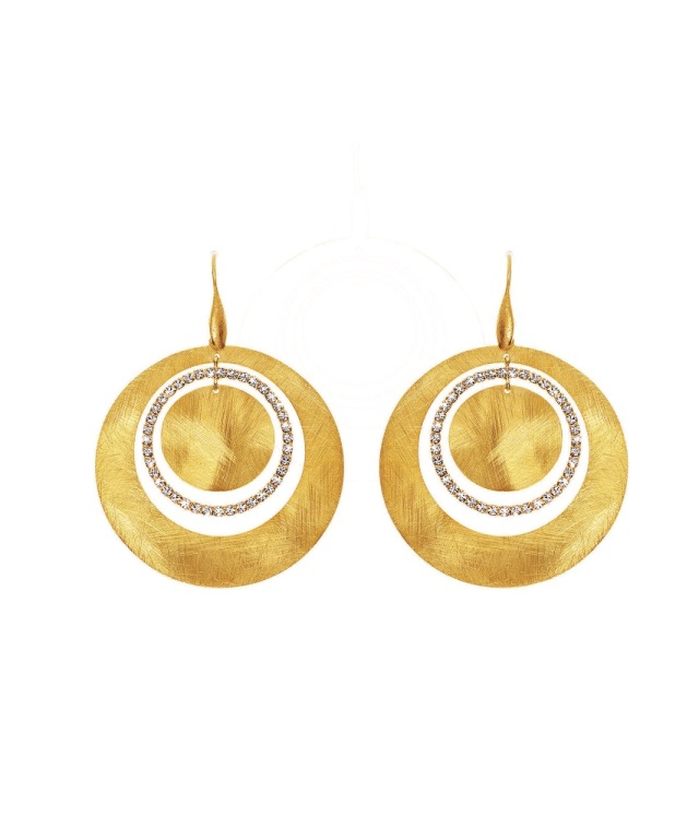 1512934_Gold-plated metal earrings with crystals