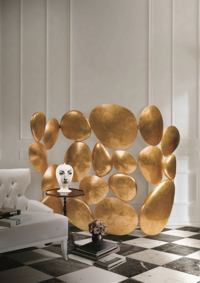 Gold Folding Screen styled