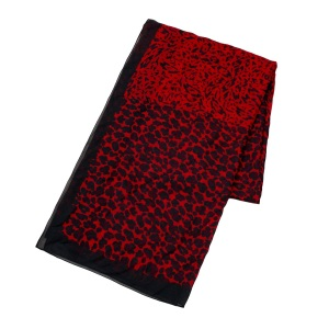 RED MULTI PRINT  SCARF 1