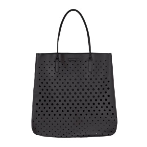 Black Perforated Tote - DKNY