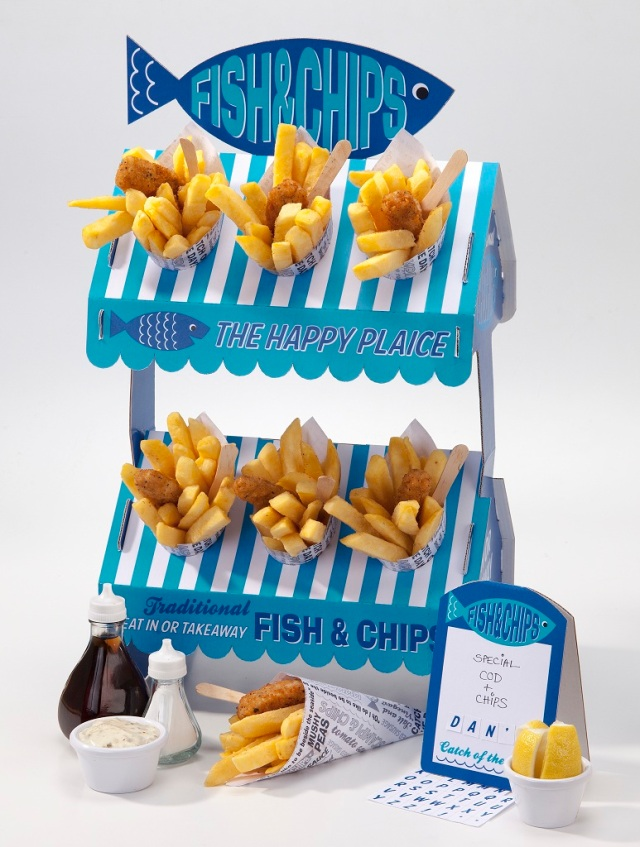 Fish and Chips 2 Tier Stand AED 99