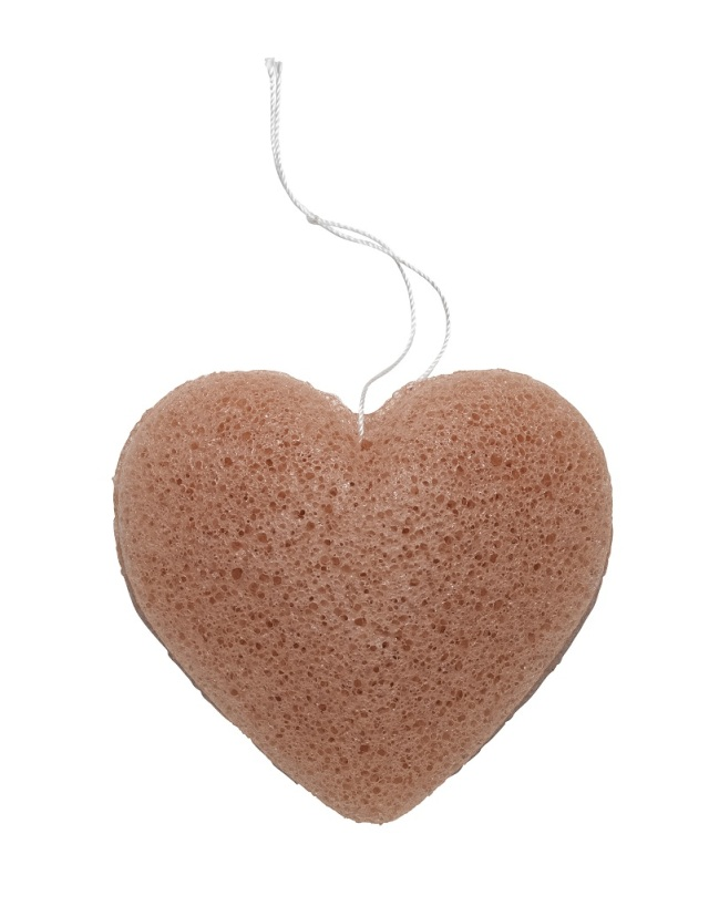 Pink Clay Heart Sponge